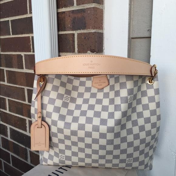 Louis Vuitton Bags 2018 Graceful Pm Damier Azur Auth Poshmark